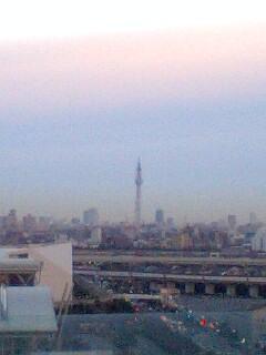 今朝の風景〜ホテル屋上